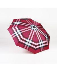 Burberry - Checked Trafalgar Umbrella - Lyst