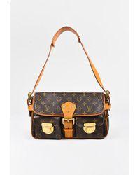 """Louis Vuitton - Brown Coated Canvas Monogram """"hudson Pm"""" Shoulder Bag - Lyst"""