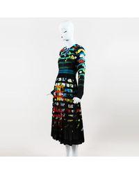 Mary Katrantzou Erba Floral Shadow Stripe Dress - Multicolor