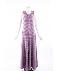 Maison Margiela - Mm6 Purple Striped Lurex Sleeveless Jumpsuit - Lyst