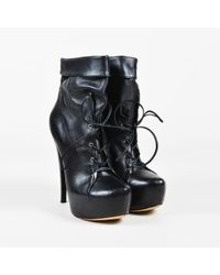 "Alejandro Ingelmo - Black Leather Lace Up ""mia"" Platform Boots - Lyst"