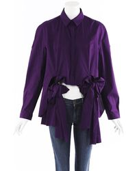 Delpozo Bow Blouse Purple Sz: S