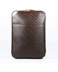 Louis Vuitton Pegase 65 Monogram Rolling Suitcase - Brown