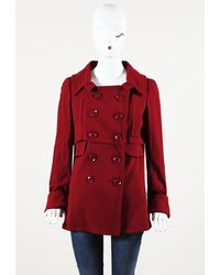 Dior Wool Double Breasted Jacket - Red