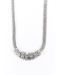 John Hardy Classic Chain Station Sterling Silver Necklace Silver Sz: - Metallic