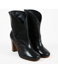 """Céline - Nwt Black Leather """"heritage"""" Wrap Ankle Booties - Lyst"""