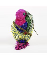 Jamin Puech - Pink Multicolor Beaded & Sequin Parrot Crossbody Bag - Lyst