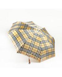 Burberry Beige Nova Check Umbrella - Natural