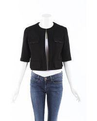 Chanel Cropped Jacket - Black