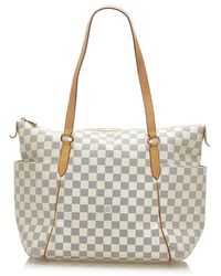 Louis Vuitton Damier Azur Totally Mm - White