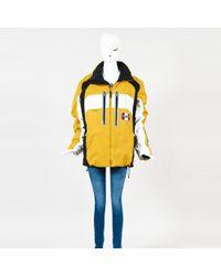 Bogner - Yellow Multicolour Nylon Zipped Colorblock Hooded Coat - Lyst