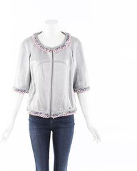 Chanel Metallic Cashmere Knit Jacket