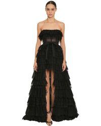 Zuhair Murad - Off-the-shoulder Asymmetric Lace Dress - Lyst