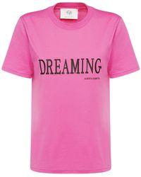 Alberta Ferretti Dreaming コットンジャージーtシャツ - ピンク