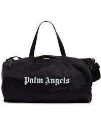 Palm Angels ブラック ロゴ ジム ダッフル バッグ
