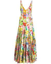 Rosie Assoulin Floral ストレッチビスコースドレス - マルチカラー
