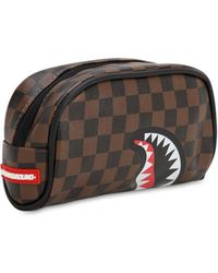 Sprayground Sharks In Paris Pouch - Brown