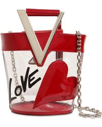 Roger Vivier Rv Lovely Pvc & Leather Bucket Bag - Red