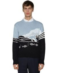 Thom Browne Fish Scene Sweater - Blue