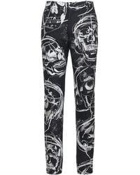 Alexander McQueen - Skull ウール&コットンパンツ 17cm - Lyst