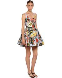 Mary Katrantzou - Floral Print Jacquard Mini Dress - Lyst