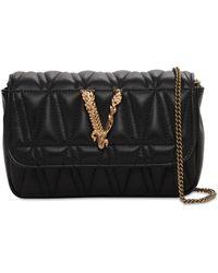 Versace Сумка Из Кожи Virtus - Черный
