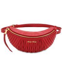 Miu Miu Quilted Leather Belt Pack
