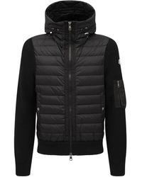Moncler Wool Blend Tricot Down Jacket - Black