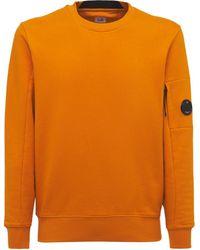 C.P. Company Diagonal フリーススウェットシャツ - オレンジ