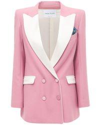 Hebe Studio Bianca Contrast Cady Blazer - Pink