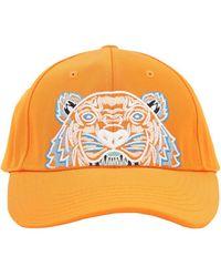 KENZO Embroidered Tiger Logo Baseball Cap - Orange