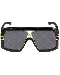 Gucci Gg0900s Oversize Mask Acetate Sunglass - Black