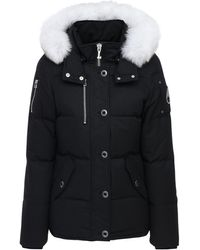 Moose Knuckles 3q Cotton & Nylon Down Jacket - Black