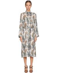 Etro - Printed Silk Viscose Shirt Dress - Lyst