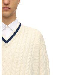 Lanvin Pullover Aus Woll/alpakamischung - Weiß