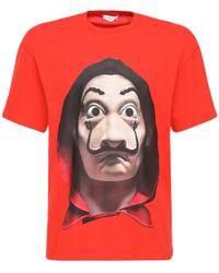 ih nom uh nit T-shirt Relaxed En Coton Imprimé Dali - Rouge