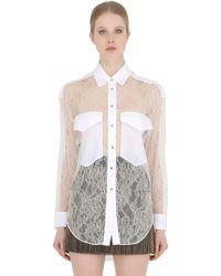 Francesco Scognamiglio - Viscose Lace Shirt - Lyst