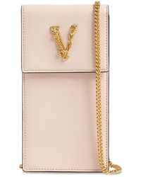 Versace - Virtus レザースマートフォンケース - Lyst