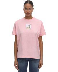 Burberry Bambiコットンジャージーtシャツ - ピンク
