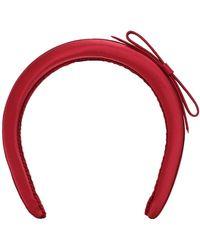 RED V С Атласный Ободок С Бантом - Красный