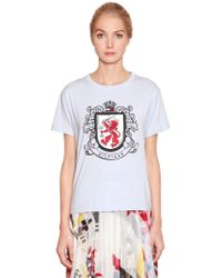 Tommy Hilfiger - Logo Printed Cotton Jersey T-shirt - Lyst