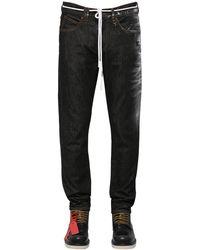 Off-White c/o Virgil Abloh Jeans Slim Fit In Denim Di Cotone - Nero