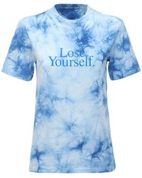 Paco Rabanne Cotton Jersey Lose Yourself T-shirt - Blue