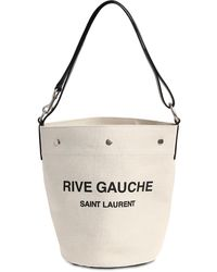 "Saint Laurent Leinentasche ""seau Rive Gauche"" - Mehrfarbig"