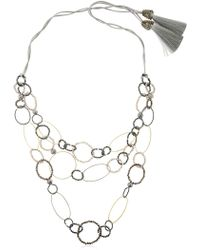 Night Market - Long Circle Necklace - Lyst