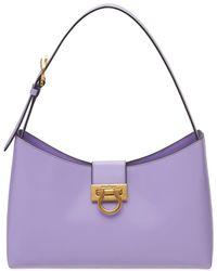 Ferragamo Сумка Small Trifolio Из Кожи - Пурпурный