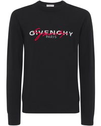 Givenchy インターシャセーター - ブラック