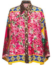 Dolce & Gabbana プリントシルクツイルシャツ - マルチカラー