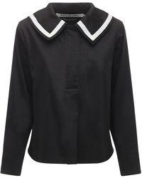 Acheval Pampa Sailor コットンサテンシャツ - ブラック