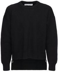 Paco Rabanne ウールニットセーター - ブラック